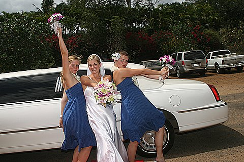 Limo Wedding at Poolena Lena Beach, Wailea Maui Hawaii